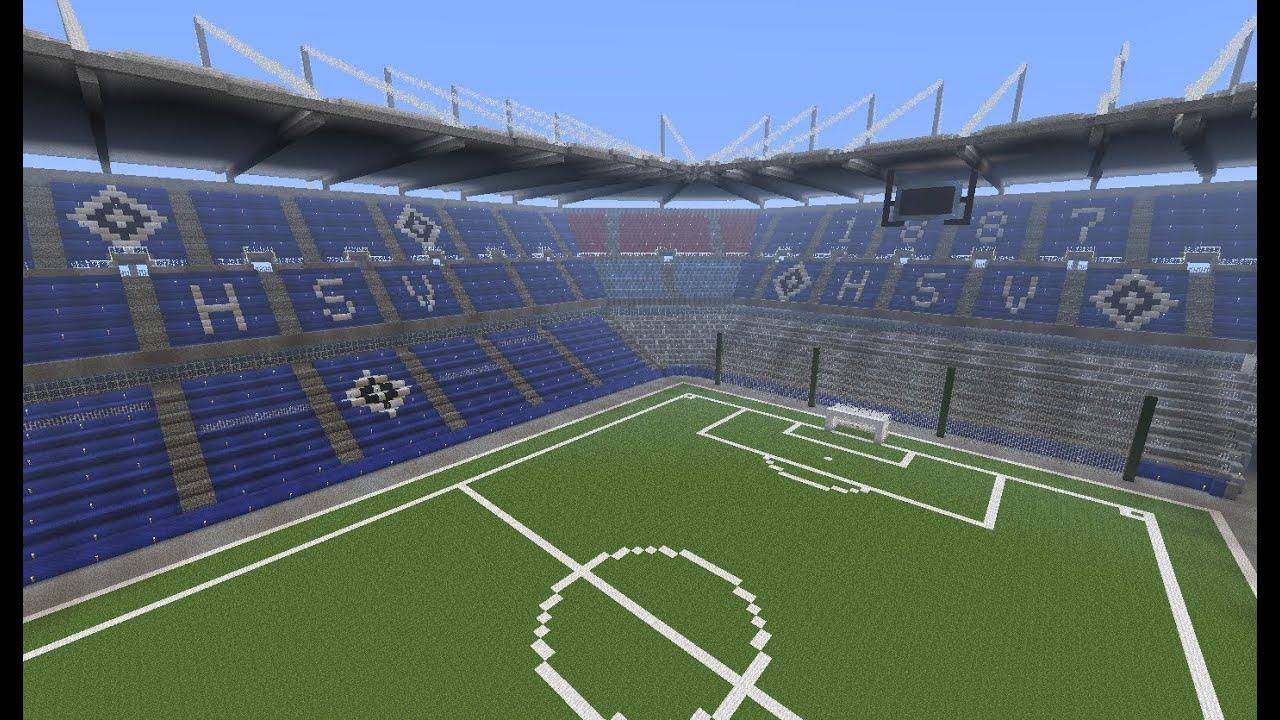 Hsv Hamburg Imtech Arena In Minecraft Save Youtube