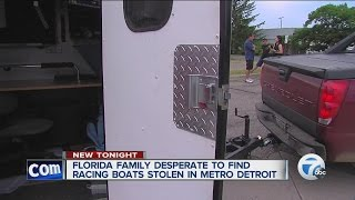 Florida man has remote control boats stolen from trailer during trip to Michigan