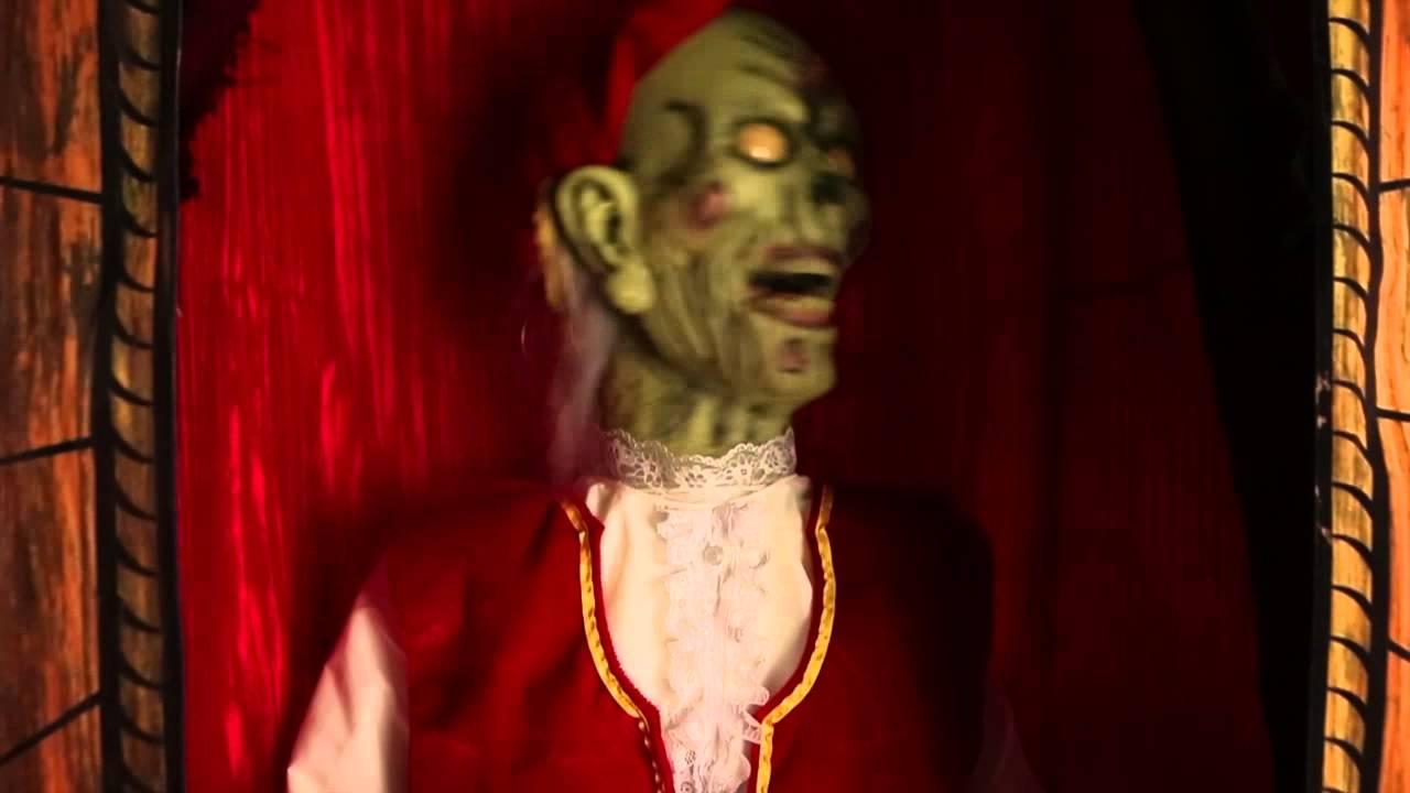 Halloween Fortune Teller Animatronic.5 5 Ft Misfortune Teller Animatronics Decorations
