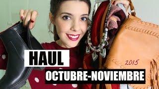 Haul Octubre - Noviembre 2015 ( Primark, Lefties, Bershka..)