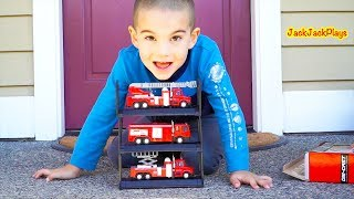 Fire Trucks for Kids Surprise Toys Unboxing, Review, Jack Jack Playing