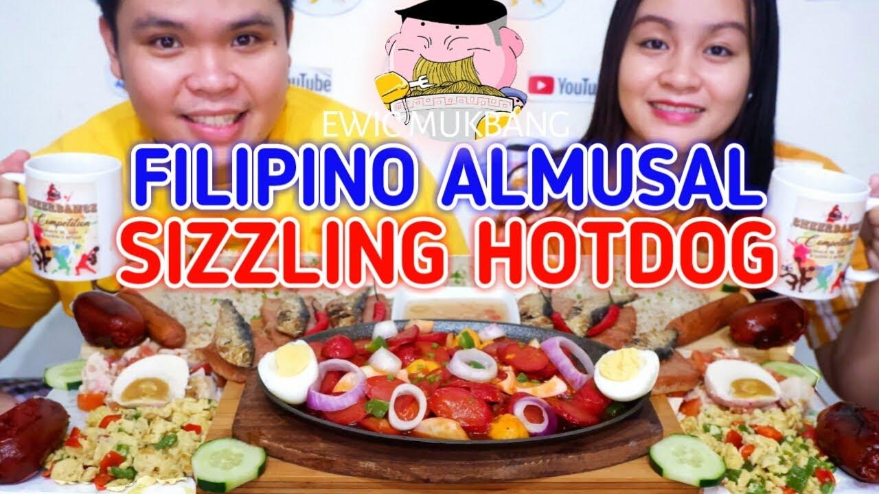 Filipino Almusal With Sizzling Hotdog Mukbang Filipino Food Mukbang Pinoy Style Mukbang Philippines