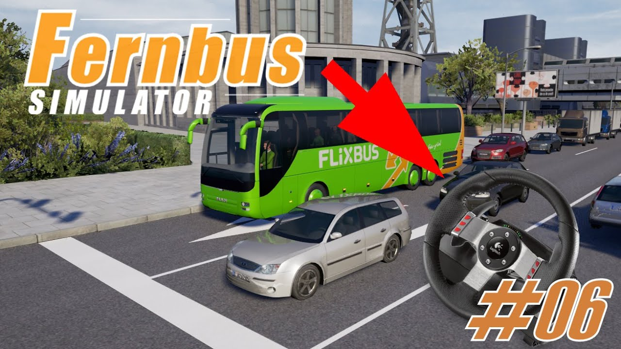 fernbus simulator 06 mit lenkrad ich habs geschafft. Black Bedroom Furniture Sets. Home Design Ideas