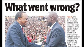 WHAT WENT WRONG:The war between Uhuru and DP Ruto deepens with Jubilee Party torn into two factions