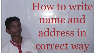 How to write nąme and address in correct way
