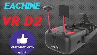 ✔ Хороший FPV Шлем Eachine VR D2, DVR, Diversity, 5' 800*480! 79.99$!
