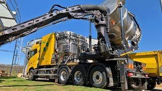Biogas Fermenterreinigung mit Saugbagger | Hölzl GmbH