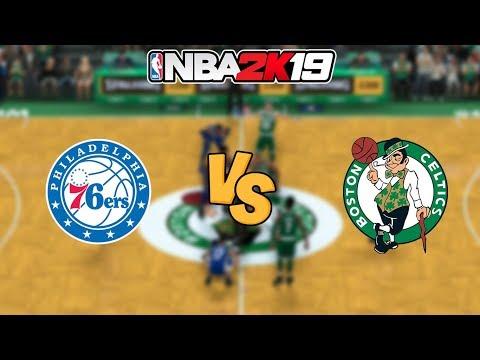 NBA 2K19 - Philadelphia 76ers vs. Boston Celtics - Full Gameplay