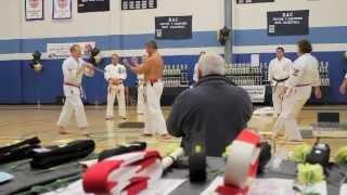 Karate Demo - Board Breaking, Brick Breaking, Arrow Breaking, Double Bed Of Nails