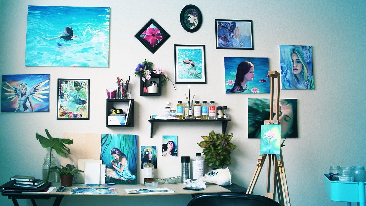 Art Studio Tour | My Workspace | 2016 - YouTube