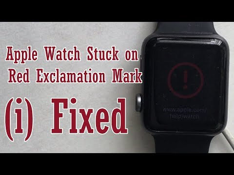 Red Exclamation Mark On Apple Watch 4/2/1 And Bricked & Stuck While Charge