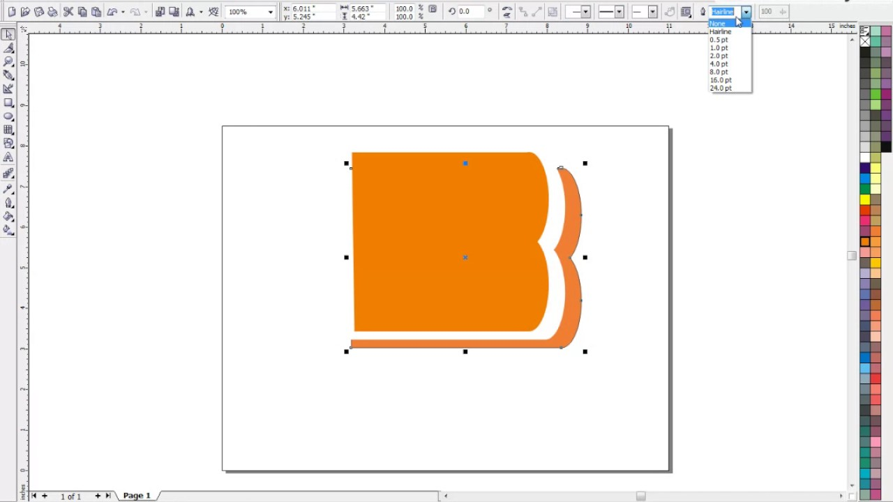 how to create bank of baroda logo in corel drew12 youtube