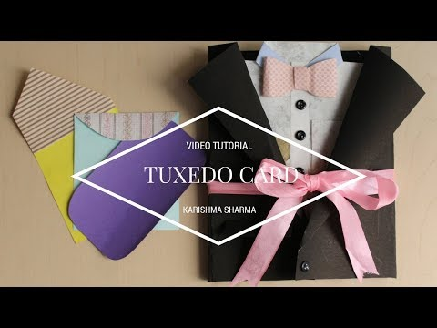 Suit-Tuxedo Scrapbook for his Birthday| Easy DIY Card Idea (tutorial available)