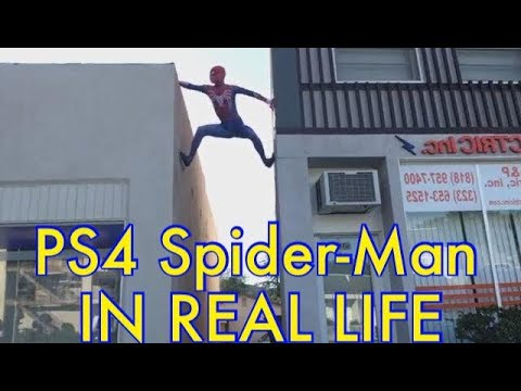 LIVE! SPIDER-MAN CLIMBING BUILDINGS!