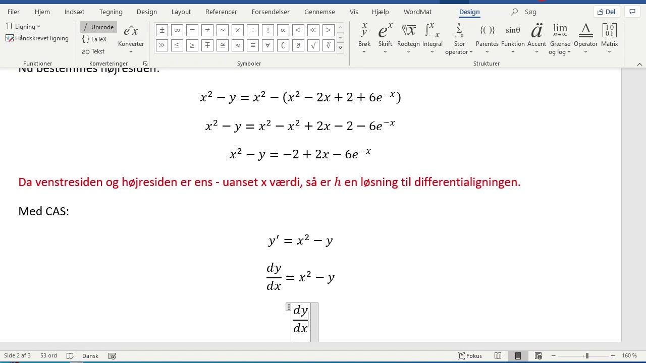 Matematik A hhx, Differentialligninger, vejlsæt 2, opgave 11