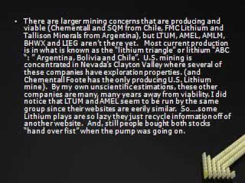 Black Hawk Mines - Are all Lithium Mining Plays SCAMS?! I take a look at LIEG