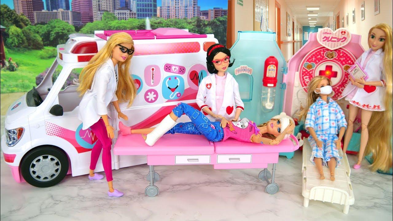 Barbie Ambulance Care Clinic Vehicle
