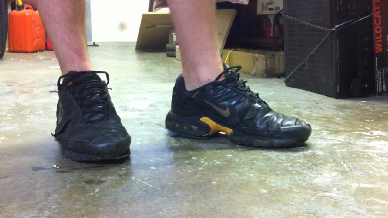 Trashed Nike Air Max TN all leather - YouTube 933e84073