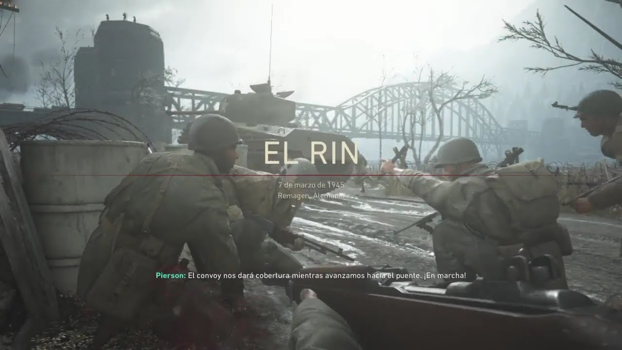 El Rin Call Of Duty Ww2 Campaña Final Youtube