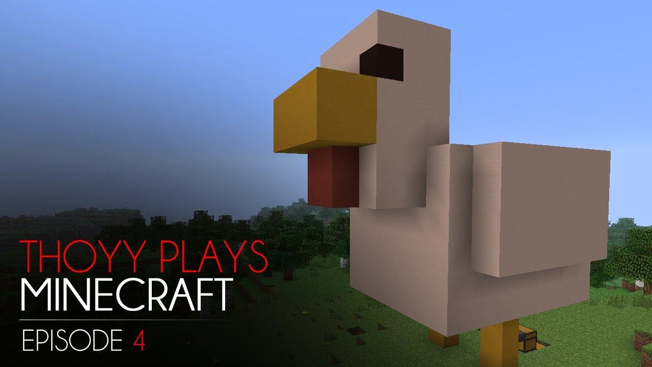 Thoyy plays minecraft ep 4 la poule rose youtube - Poule minecraft ...