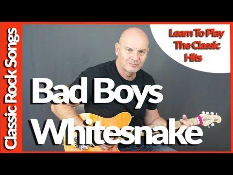 Bad Boys By Whitesnake - Guitar Lesson - Repost
