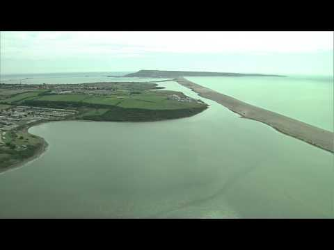 Panoramic views over Chesil Beach and the Fleet Lagoon (1080p HD) (1 of 7)