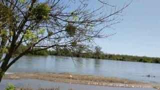 4/21/17 ~ 30 miles downstream of Oroville Dam (35,000 cfs river releases)