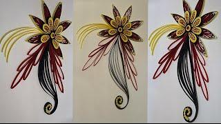 paper quilling  flower design ideas-Quilling Karte