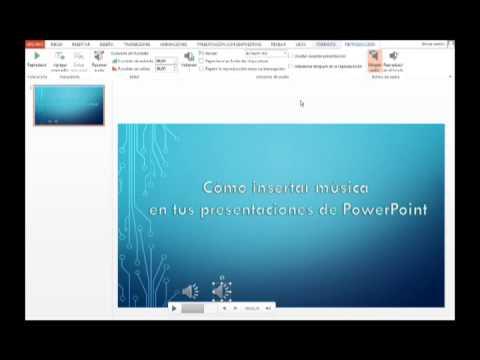 PowerPoint 2013: Cómo agregar música a tus presentaciones de PowerPoint
