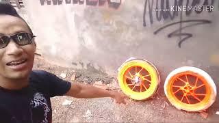 Pintei as rodas da minha moto