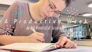 Eine Produktive Woche // Studium, Nebenjob & Ehrenamt // Universität Heidelberg