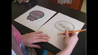 How to Draw Isaac from The Binding of Isaac from a Picture