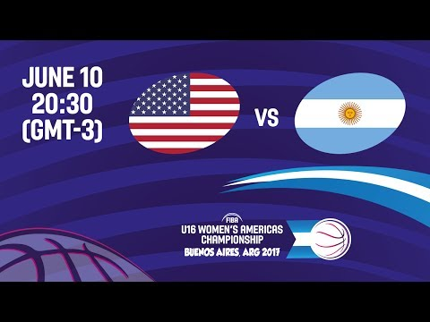 United States vs Argentina - Semi-Final #2 - FIBA U16 Women'