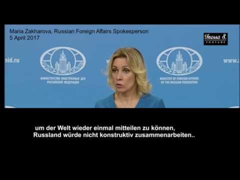 Giftgas Syrien☢// Brillant ➤ Russisches Außenministerium zerlegt Reporterin von CBS ✓