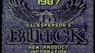 1987 Buick New product information