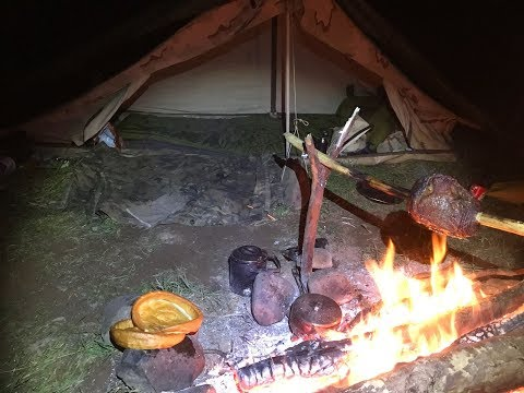 SOLO FISHING CAMP UNDER CANVAS AND SPIT ROAST BEEF DINNER