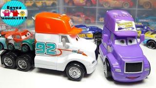 Disney Pixar Cars 3 CB cranberry juice Deluxe Dinoco 400 and Dan Haulin sputter Stop 2018 Review