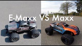 Traxxas Maxx versus E-Maxx Brushless