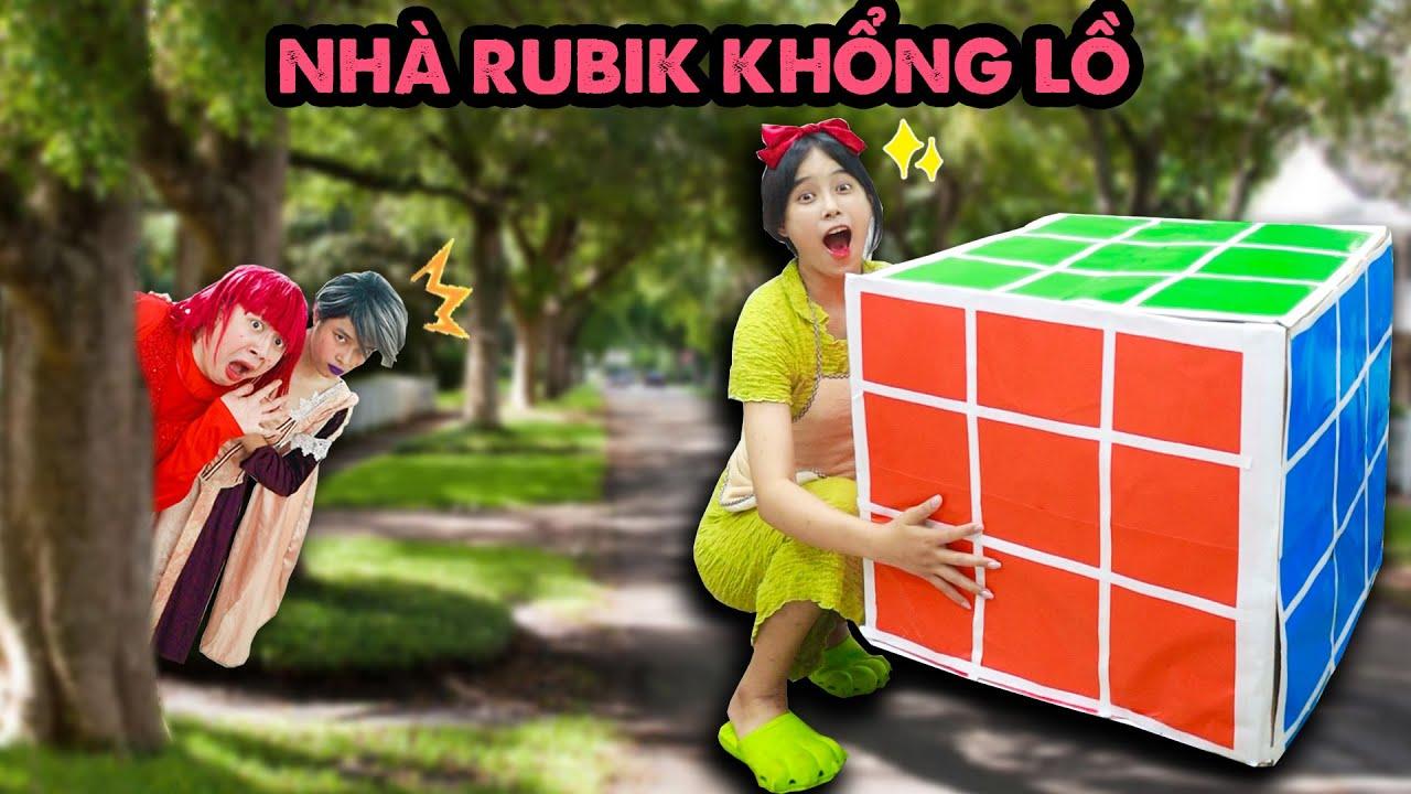 Lọ Lem Làm Nhà Rubik Khổng Lồ Trừng Trị Mẹ Ghẻ