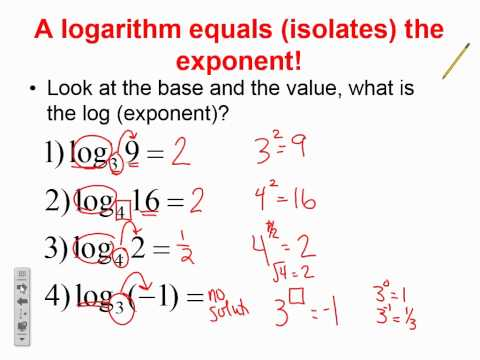 logarithms basics video - YouTube