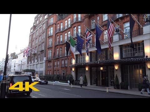 London Walk: Mayfair | Via Grosvenor Square And Berkeley Square【4K】