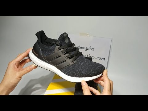 dc9c80e36188 UA Adidas Ultra Boost 3 0 Black Sneaker Shoes Unboxing Review - YouTube