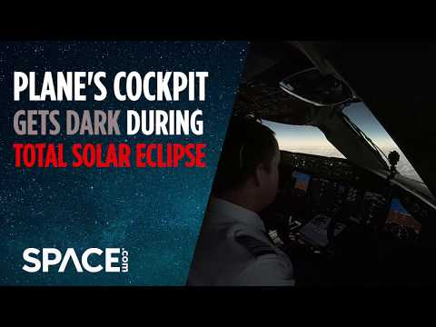 Watch Plane's Cockpit Get Dark During 2019 Total Solar Eclipse