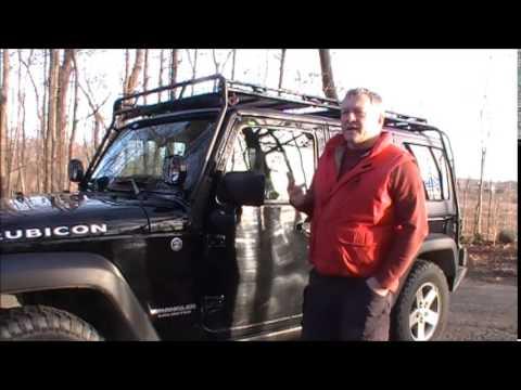 Jeep Wrangler Gobi Stealth Roof Rack Review Youtube