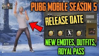 PUBG Mobile SEASON 5 Update Confirm Release Date | New Emotes, Outfits, GUN Skins | S5 Royal Pass
