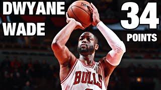 Dwyane Wade 34 Points vs Portland | 12.05.16
