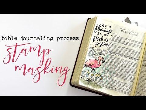 Bible Journaling Process | Stamp Masking | Sonshine Stamp Co