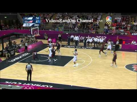 USA vs Argentina 2012 Basketball Highlights