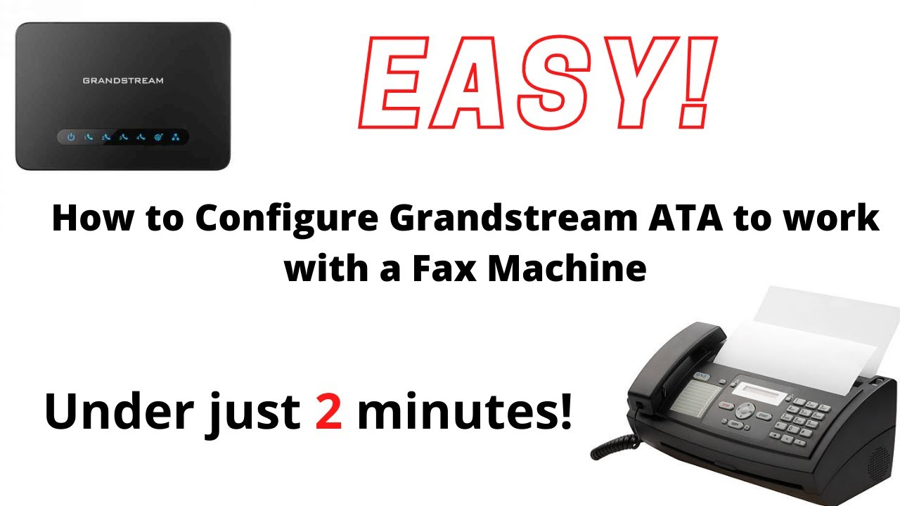 How to Configure Grandstream HT701 ATA to work with a Fax Machine