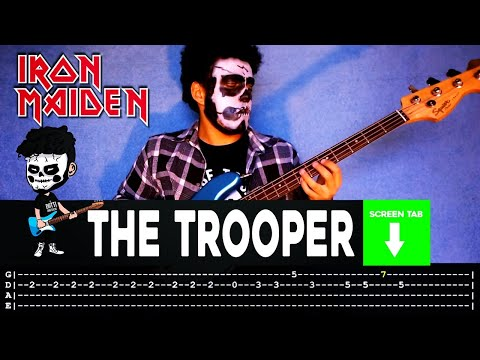 Iron Maiden - The Trooper (Bass Cover by Cesar Dotti W/Tab)
